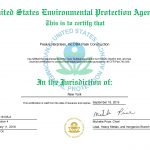 New York Toxic Substance Certification
