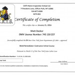 Mold Remediation Certifications | Peak Construction