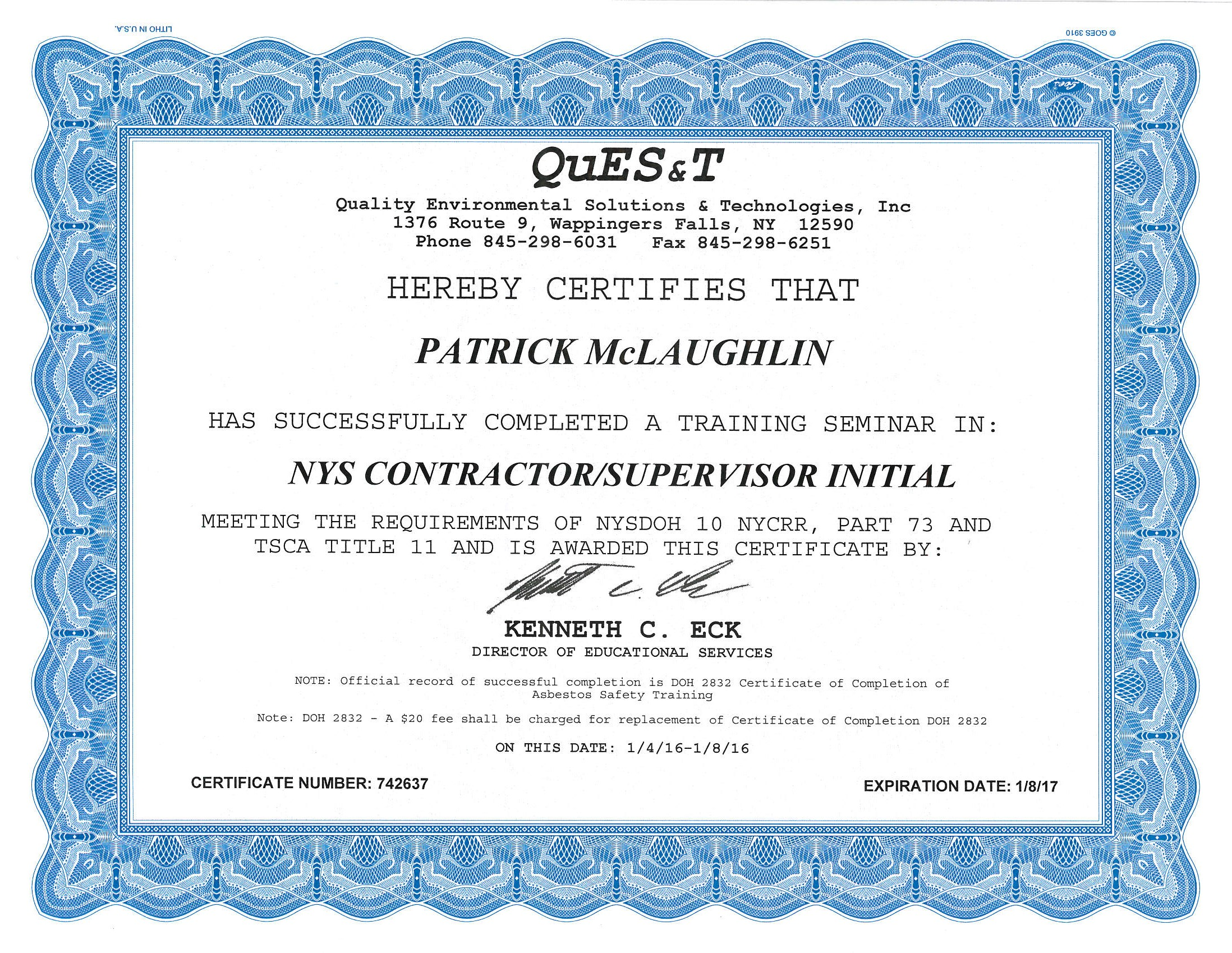 Peak construction contracting epa lead safe certified firm asbestos certification peak construction 1betcityfo Gallery