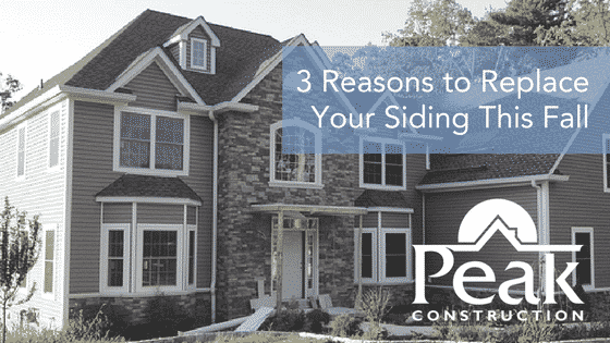 3 Reasons to Replace Your Siding This Fall