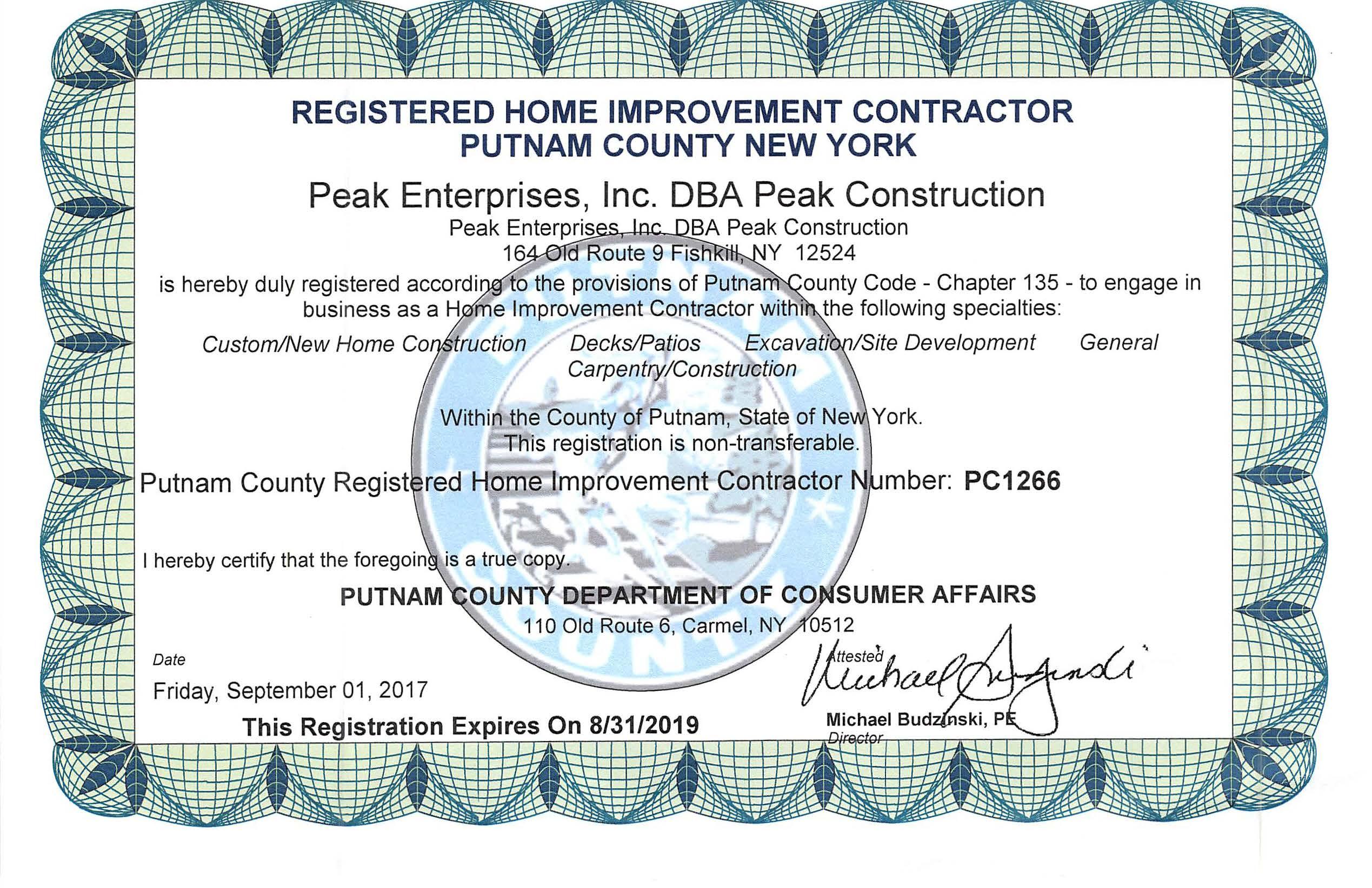 Putnam Co Home Improvement PC1266
