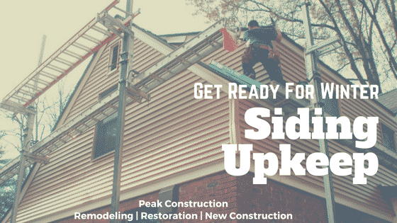 Siding Repair | Fall Maintenance Tips | Peak Construction