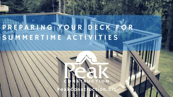Preparing Your Deck for Summertime Activities