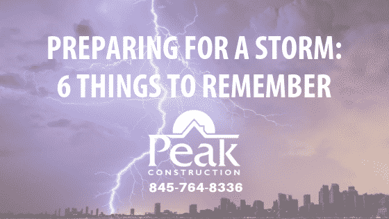 Peak Construction, Storm Rescue, 24 hours 7 days a week