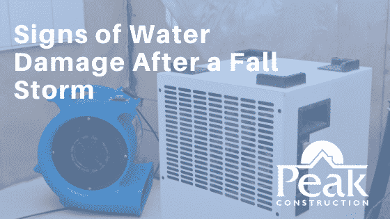 Fall Storms | Water Damage