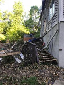 Temporary Work begins at the house of tree strike in Fishkill, NY
