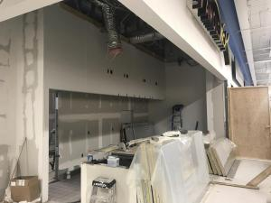 Famous Wok in Kingston, NY. Remodeling inside the Walmart store by Peak Construction.