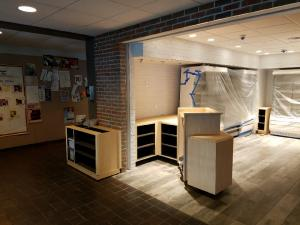 Remodeling the Express Cafe in the Vassar College in Poughkeepsie, NY.
